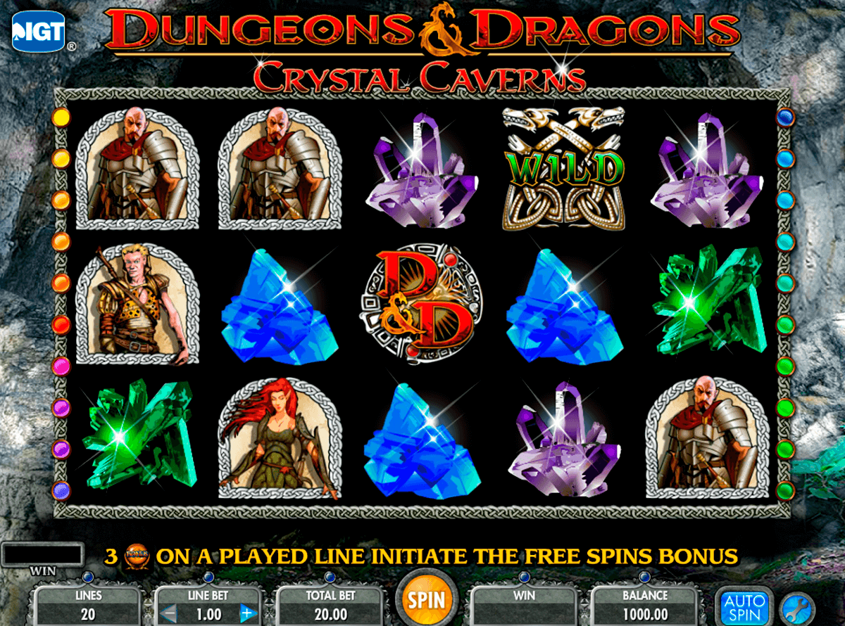 dungeons and dragons crystal caverns igt tragamonedas gratis
