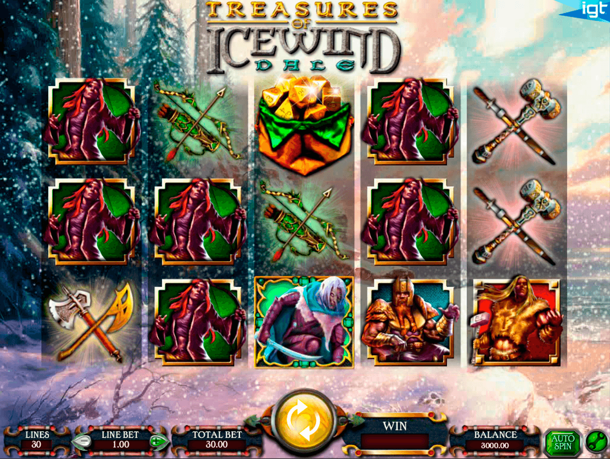 dungeons and dragons treasures of icewind dale igt tragamonedas gratis