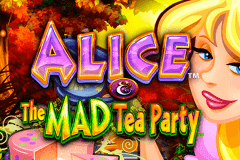 logo alice and the mad tea party wms juegos casino