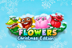 logo flowers christmas edition netent juegos casino