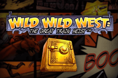 logo wild wild west the great train heist netent juegos casino