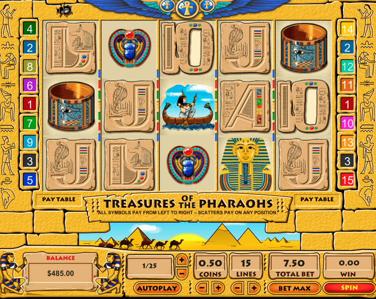 treasure of the pharaohs pragmatic tragamonedas gratis